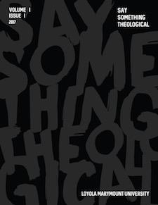 Say Something - Say Something Theological: Student Academic Journal