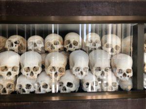 Skulls at the killing fields