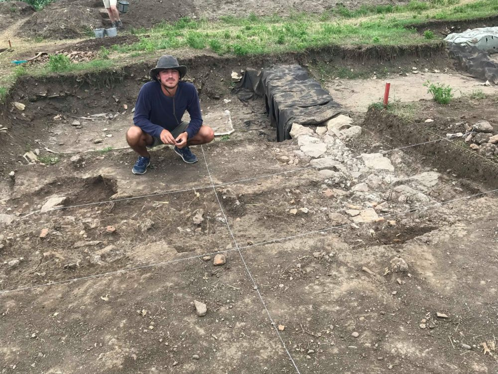 Luis Kay at archaeological dig site