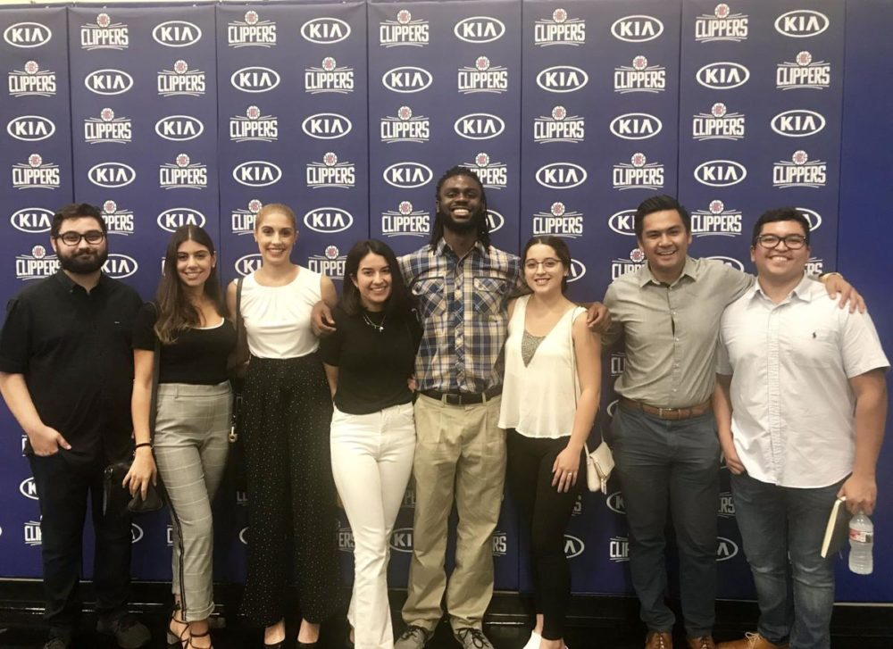 Students in LMU's Sport's Journalism class