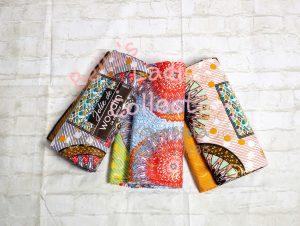 Orange Print African Fabric