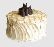Delicious carmel cake available in the Philly area