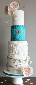 Tiered wedding cakes can be as unique as you and your wedding