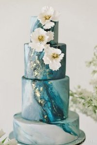 We have marble wedding cakes and custom options