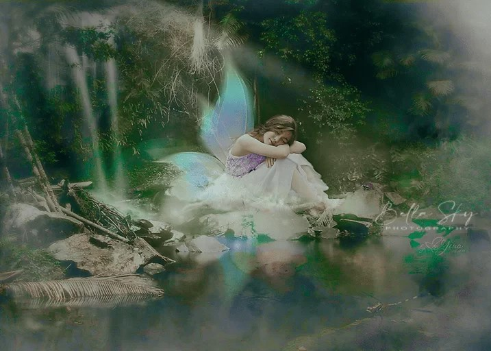 fairy resting by the lake