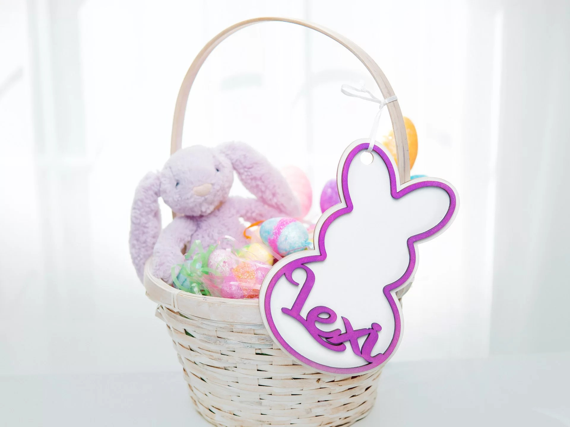 product photography easter bunny tag