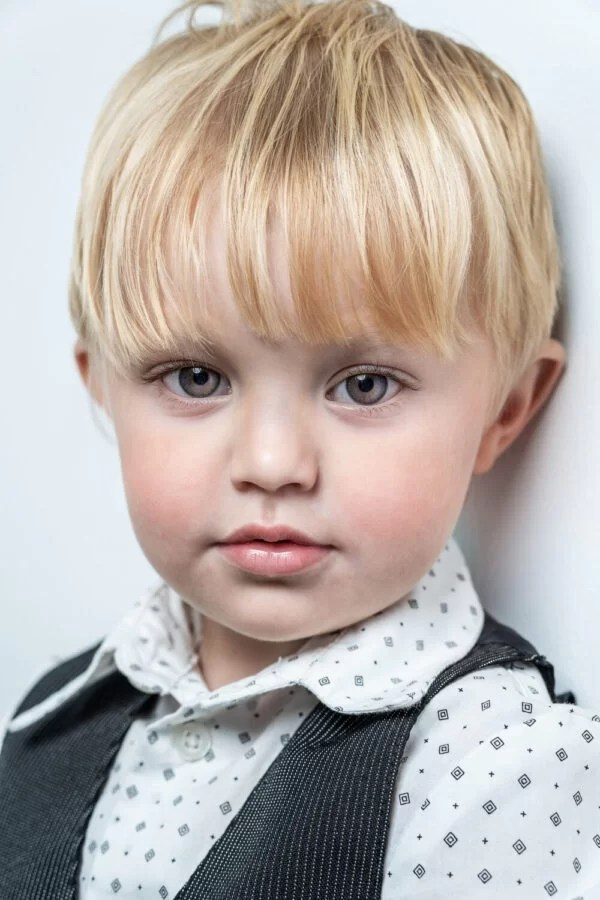 children portrait of boy with pretty eyes