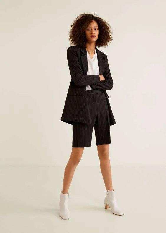 Pinstripe bermuda short suits