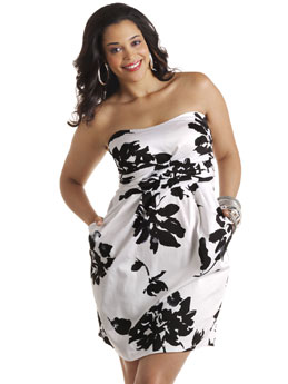 Ashley Stewart black & white floral dress $49