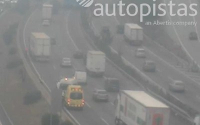 Circulació amb retencions a l'AP-7 per un accident a l'altura de Bellaterra
