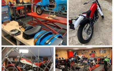 Mecànic a Bellaterra posa al dia i restaura motos antigues