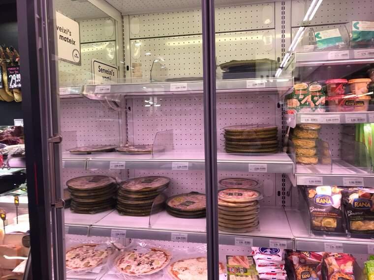 Alguns queviures com el menjar precuinat han notat l'increment en la demanda