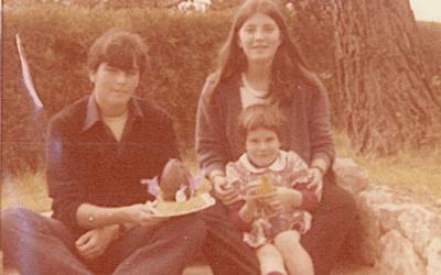 Pasqua amb Xavier Sala Martín, Cristina Martín i Queralt Martín a Bellaterra