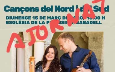 Ajornat el concert d'Arianna Savall a la Puríssima de Sabadell pel coronavirus