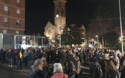 Concentració davant l'Ajuntament pels tres mesos de presó dels Jordis