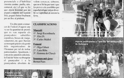 Recordeu com es vivien i s'explicaven les festes de Bellaterra? FM 2002: Ironman – Ironwoman