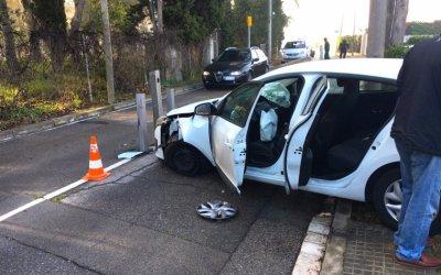 Accident matinal davant la pilona