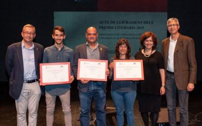 Xavier Mas, Jordi Ferrer i Roser Blàzquez guanyen els Premis Literaris 2019