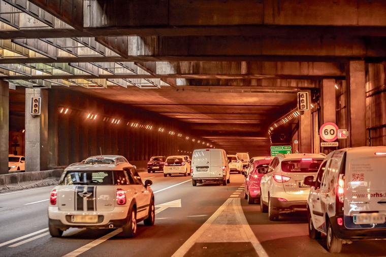 La Ronda Litoral i la Ronda de Dalt són dos dels eixos viaris principals més afectats | SERVEI CATALÀ DE TRÀNSIT