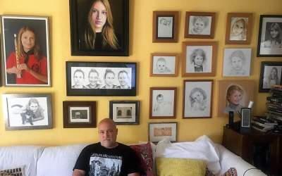 El professor de pintura a l'EMD, Adolf Priante, finalitza un projecte artístic de 18 anys