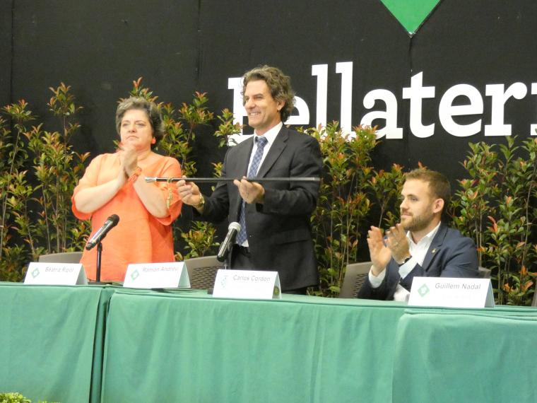 Ramon Andreu, president de l'EMD, acceptant el càrrec de forma oficial per tercera vegada, al 2019 | Laia TR