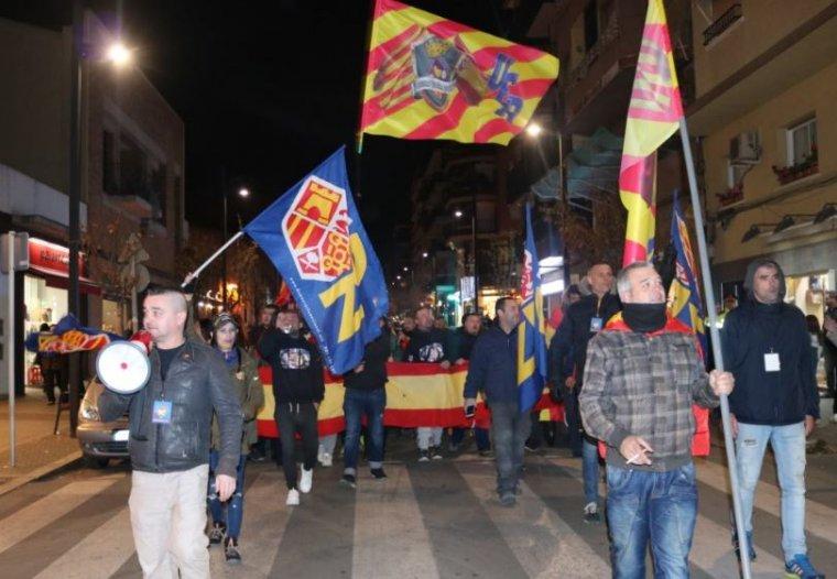 Unitat Espanyola Ripollet, acompanyat de Democràcia Nacional, realitza es concentra a Ripollet.