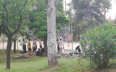 Veïns del Turó tancaran l'entrada per conflictes a la zona esportiva