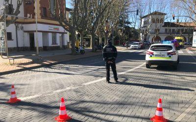 Accident matinal de trànsit a la plaça del Pi