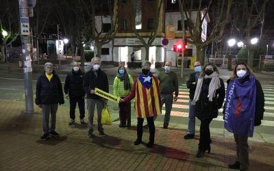 """Concentració contra la """"repressió"""" als presos polítics i per la independència a la plaça del Pi"""