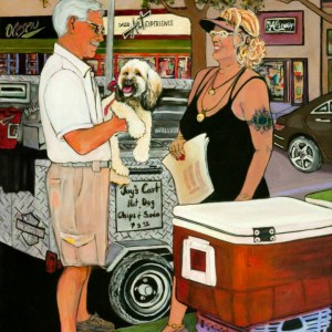 Hotdogs on Central by Pat Whidden-Green