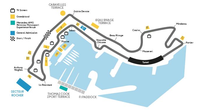Monaco Grand Prix Circuit Map