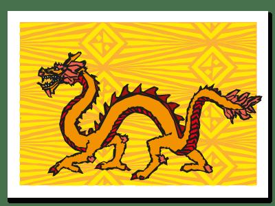 "Chinese zodiac sign postcard ""Dragon"""