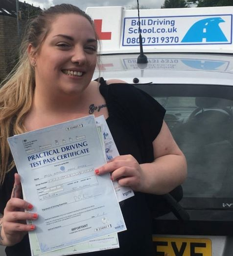 Natalie passing her test