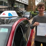 ben passing his test