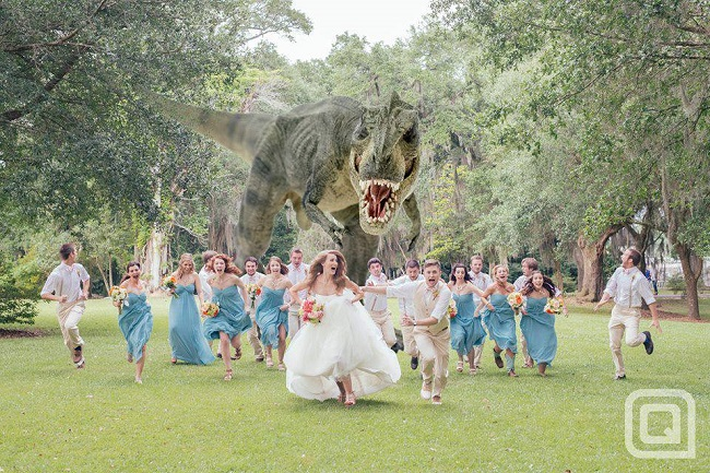 Dinosaur Wedding