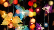 Garden lights are a great way to use garden design to brighten up a small area