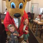 Breakfast with Billy Bear at Butlins resort in Bognor Regis, a character breakfast is an extra attraction