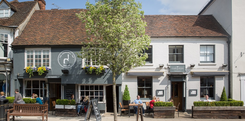 The Chequerrs hotel in Marlow has recently undergone a refusbishment