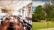 King and Lamb restaurant at Stoke Place hotel offers a relaxed fine dining environment with stunning views