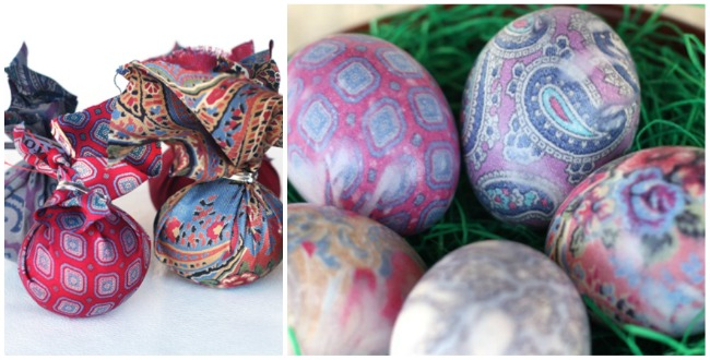 silk printed eggs Easter