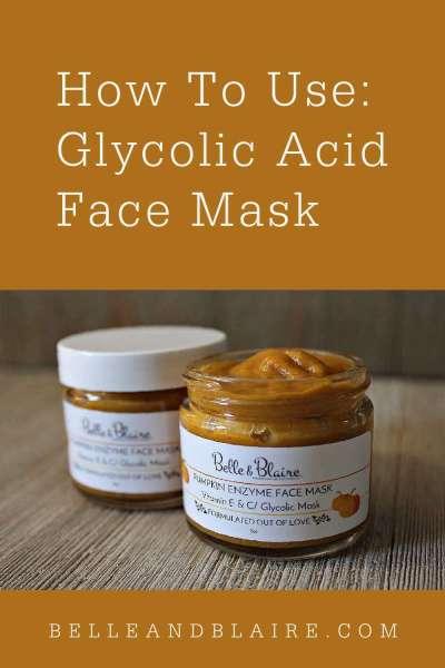 How to Use: Glycolic Acid Face Mask