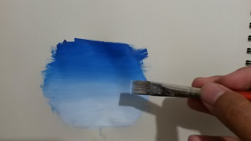 Come Fare Sfumature Di Colore Acrilico In Pittura