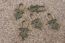 Petit cadenas bronze, 25x12mm