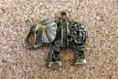 Éléphant bronze, 31x27mm