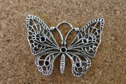 Papillon argenté, 48x28mm