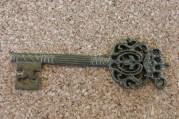 Grande clef bronze foncé, 65x22mm