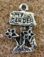 Jardin, signalisation 'My Garden', argenté, 22x14mm