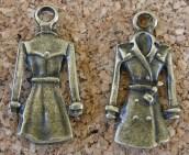 Manteau style imperméable, bronze, 22x11mm