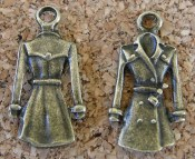 Manteau style imperméable, bronze, 22x11mm