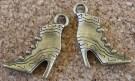 Bottes à talons hauts, bronze, 22x15mm